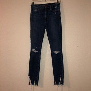 JOE'S High Rise Distressed Skinny Ankle Blue Jeans